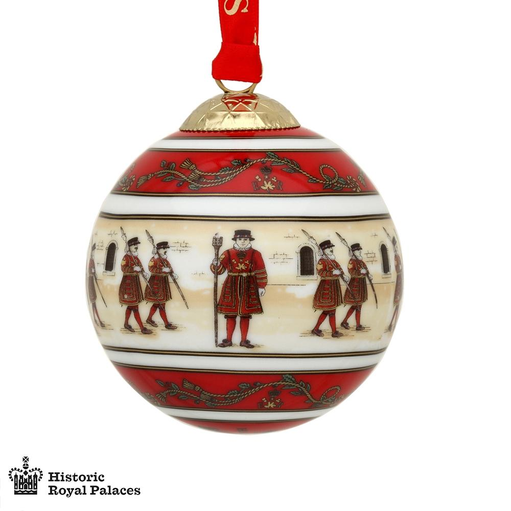 Halcyon Days Tower of London Christmas Bauble-Ornament-Sterling-and-Burke