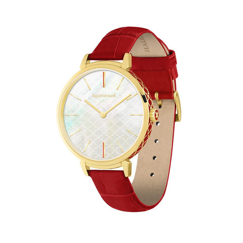 Halcyon Days Agama Sport Watch in Red and Gold-Ladies Watch-Sterling-and-Burke