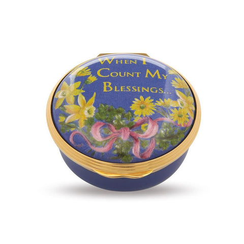 "Halcyon Days ""When I Count My Blessings"" Enamel Box-Enamel Box-Sterling-and-Burke"