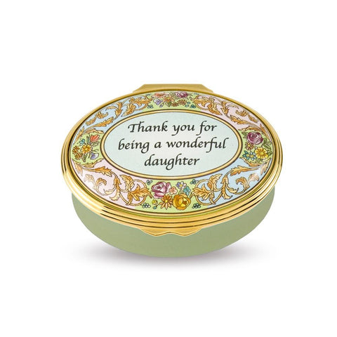 "Halcyon Days ""Thank You For Being A Wonderful Daughter"" Enamel Box-Enamel Box-Sterling-and-Burke"