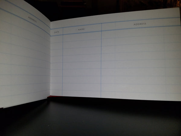 Wedding Guest Book | Register Book | 5 by 8 Inches | Name, Date, Address | Made in England | Charing Cross-Guest Book-Sterling-and-Burke