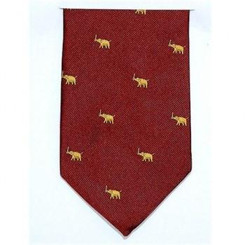 Republican Elephant, Burgundy and Gold | Silk Tie | Benson and Clegg | Made in England-Necktie-Sterling-and-Burke