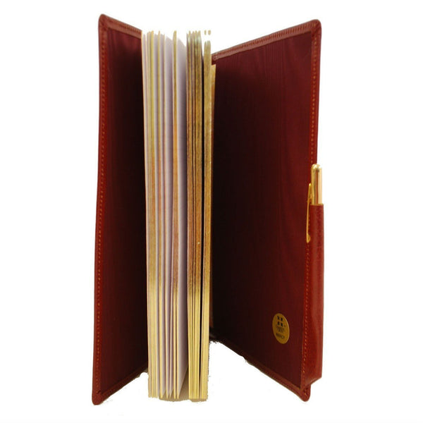 Refillable Leather Buffalo Calf Manuscript Book with Pencil | 8 by 6 Inches | Made in England-Notebooks-Sterling-and-Burke