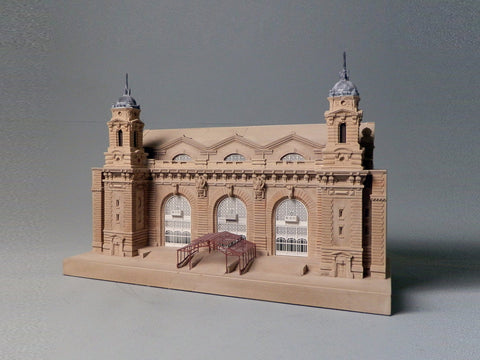 Ellis Island Architectural Sculpture | Custom Ellis Island Statue | Building Model | Extraordinary Detail and Quality | Made in England | Timothy Richards-Desk Accessory-Sterling-and-Burke