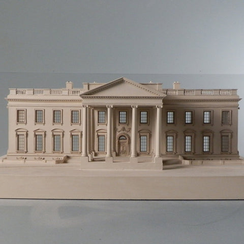 Architectural Sculpture | White House | Washington, DC | Custom Model | Extraordinary Quality Detail | Made in England | Timothy Richards-Desk Accessory-Sterling-and-Burke