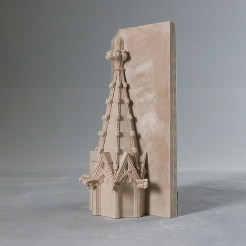National Cathedral Spire Architectural Sculpture | Custom Washington National Cathedral Plaster Model | Extraordinary Quality and Detail | Made in England | Timothy Richards-Desk Accessory-Sterling-and-Burke