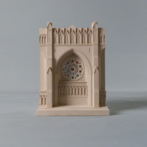 National Cathedral Rose Window Architectural Sculpture | Custom Washington National Cathedral Plaster Model | Extraordinary Quality and Detail | Made in England | Timothy Richards-Desk Accessory-Sterling-and-Burke