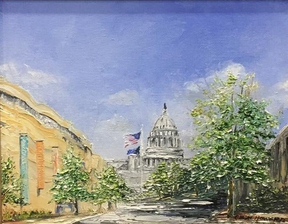 "DC Art | The US Capitol Building, Washington, DC | Original Oil Painting by Claire Howard | 15.5"" x 13.5"""