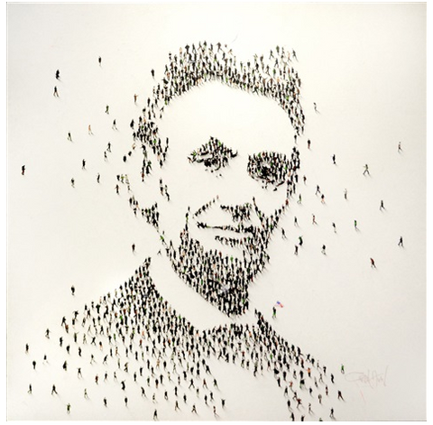 "Populus: Lincoln 'Americana Emancipator' | Acrylic on Canvas by Craig Alan | 48.5"" x 48.5"""
