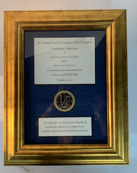 Bespoke Awards for NBOME | Awards in Gold, Wood, Black Frame | Superior Quality Bespoke Award | Custom Framed Award | Certificate | Studio Burke DC