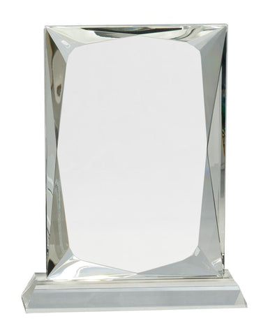 "Crystal Awards in DC | Clear Rectangular Crystal Award | 8"" Heavy Clear Crystal 