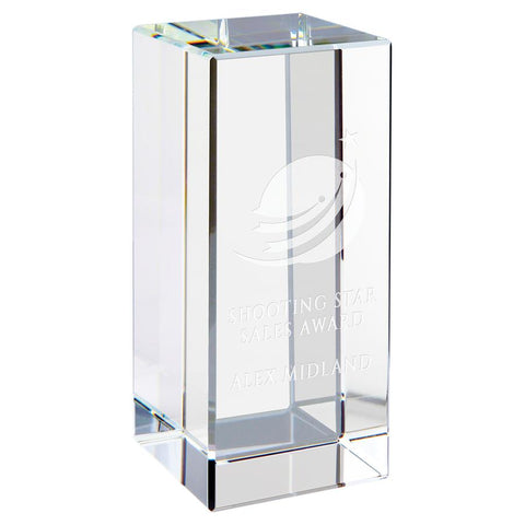 "Crystal Awards in DC | Clear Crystal Square 5"" Award 