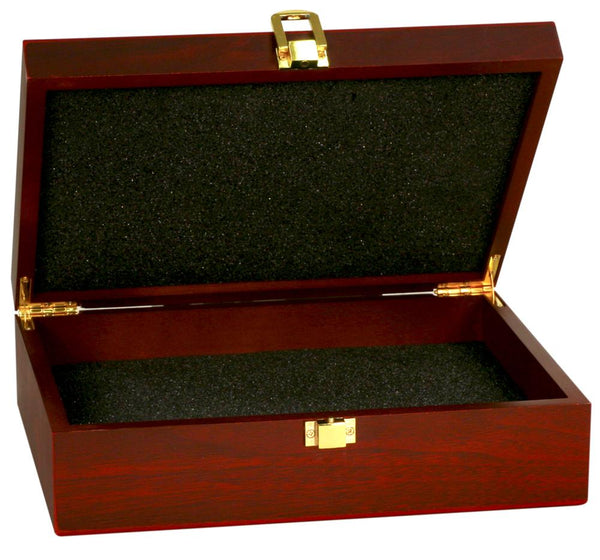Rosewood Desk Box | Stationery Box | Matte Finish Rosewood | Custom Engraving | 12 by 8 inches-Award-Sterling-and-Burke