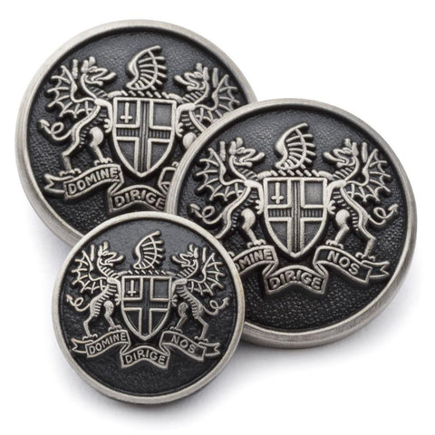 City of London Blazer Buttons | Silver Plated Blazer Buttons | Made in England | Benson and Clegg, London