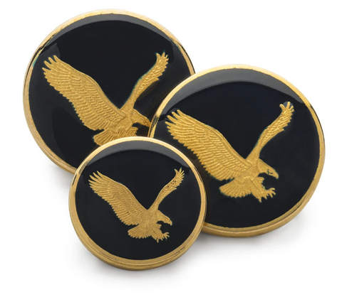 American Eagle Blazer Buttons | Patriotic | Gold and Navy | Single Breasted Blazer | Custom Blazer Button Set