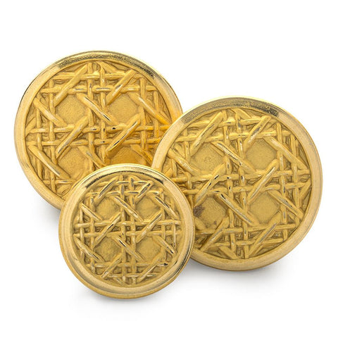 Caneweave Blazer Button Sets | Gold Plated Blazer Buttons | Made in England