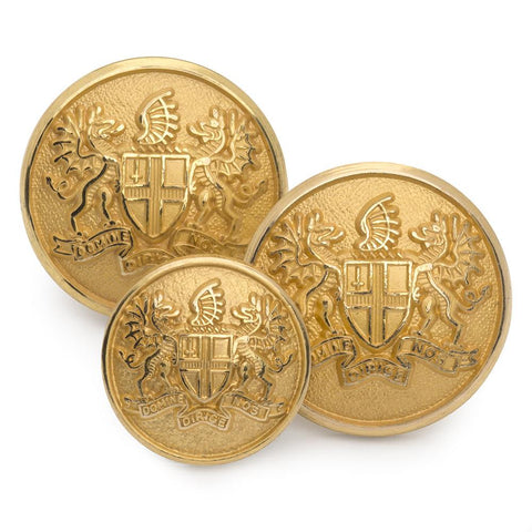 City of London Blazer Buttons | Gilt / Gold Plated Blazer Buttons | Made in England | Benson and Clegg, London