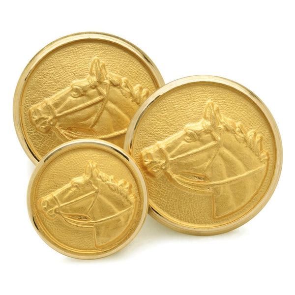 Horse Head Blazer Buttons | Gilt Gold Blazer Buttons | Superior quality | Made in England