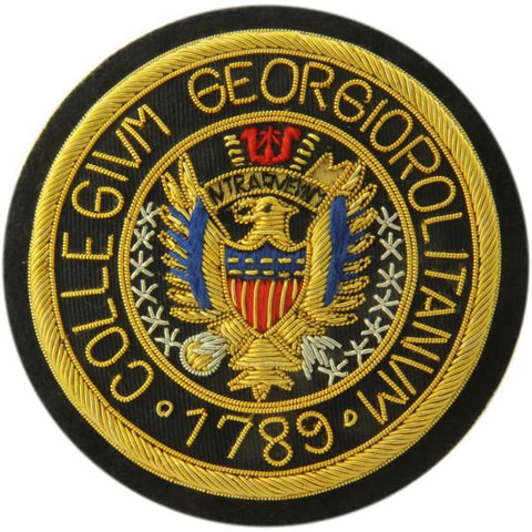 Georgetown University | GU Crest | Gold Thread Blazer Badge | Made in England | Sterling and Burke-Blazer Badge-Sterling-and-Burke
