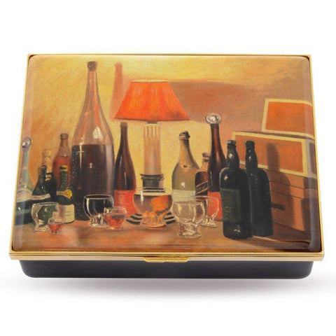 Halcyon Days Bottlescape by Sir Winston Churchill Enamel Box, Large-Prestige Box-Sterling-and-Burke