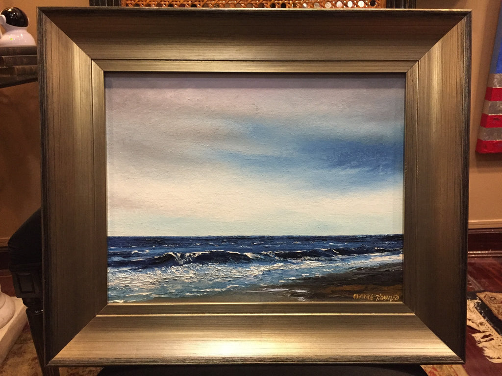 "Art | Breezes | Original Oil Painting by Claire Howard | 15.5"" x 18""-Oil Painting-Sterling-and-Burke"