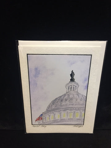 "Art | Capitol Flag | Photo Card by Carole Moore Biggio | 5"" x 7""-Photo Card-Sterling-and-Burke"