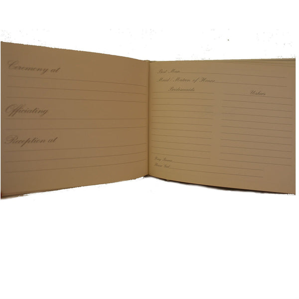 Wedding Guest Book | Wedding Gift Book | 7 by 9 Inches | White Skiver Leather | Charing Cross-Guest Book-Sterling-and-Burke