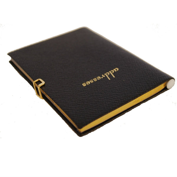 Address Book with Pencil and Clasp, Leather 4 by 2.5 Inch-Address Book-Sterling-and-Burke