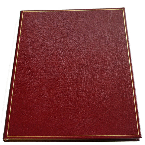 Leather Notebook | 8 by 10 Inches | Lined Pages | Multiple Colors | Buffalo Calf | Charing Cross-Notebooks-Sterling-and-Burke