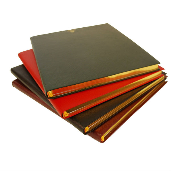 Crossgrain Leather Notebook | 8 by 10 Inches | Lined Pages | Hand Made in England | Charing Cross-Notebooks-Sterling-and-Burke