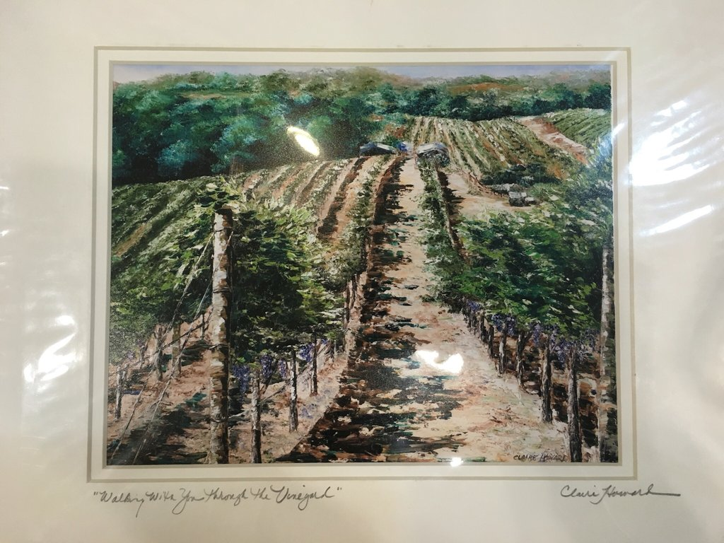 "Walking With You Through the Vineyard | Giclee with Mat | 10"" x 8"""