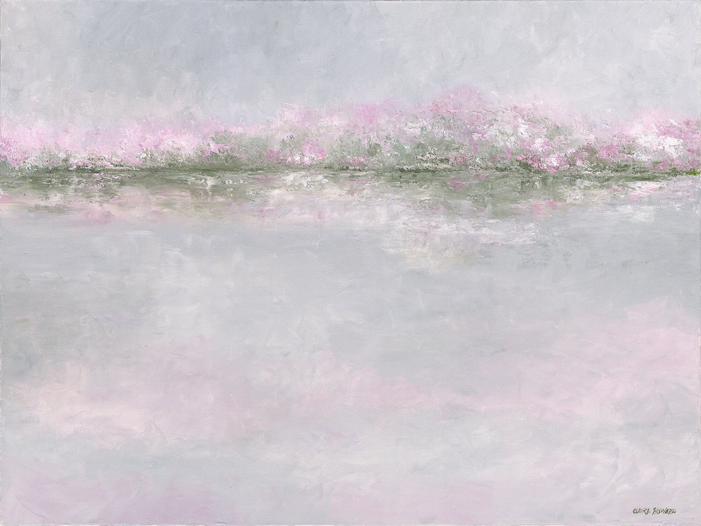 "Art | Pink Reflections | Original Oil Painting by Claire Howard | 30"" x 40""-Oil Painting-Sterling-and-Burke"