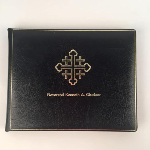 Bespoke Jerusalem Cross Condolence Book | Funeral Registry | Sympathy Book | Made in England | Charing Cross-Guest Book-Sterling-and-Burke