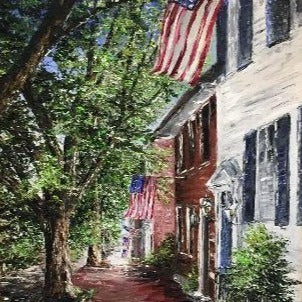"DC Art | Patriotic Art | USA Flag Art | ""America, We Love You"" 
