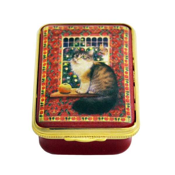 Halcyon Days Agneatha with the Apple Christmas Enamel Box-Enamel Box-Sterling-and-Burke