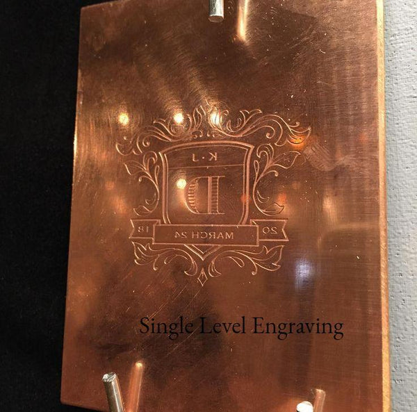 """"" Steel Engraving Plate for Engraved Stationery $250 