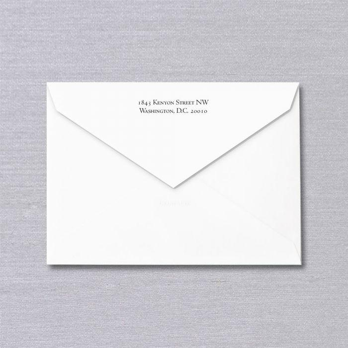 Bespoke Stationery | Envelope Only with Return Address | No Lining | Hand Engraved | Sterling and Burke Ltd-Custom Stationery-Sterling-and-Burke