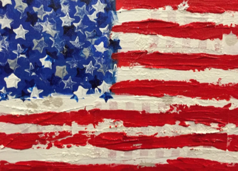 "Art | America 10 | Acrylic Mixed Media by Fabiano Amin | 9"" x 12"""