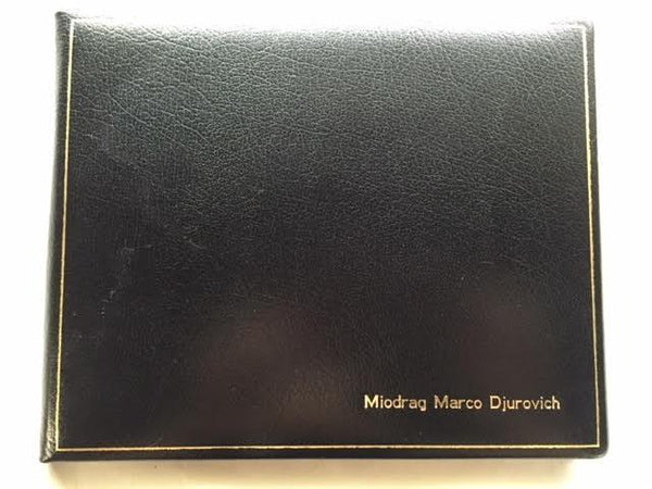 Ring Binder | Extra Large Leather Condolence Book | Funeral Registry | Sympathy Book | Made in England | Charing Cross-Guest Book-Sterling-and-Burke