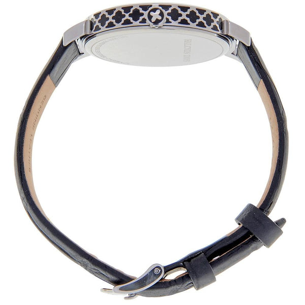 Halcyon Days Agama Sport Leather Strap Watch and Chain Enamel Bangle Set in Black and Palladium-Jewelry-Sterling-and-Burke