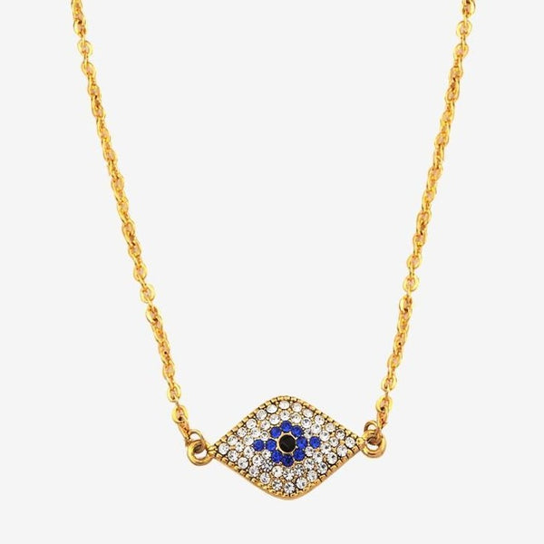 Halcyon Days Pave Evil Eye Pendant Necklace-Jewelry-Sterling-and-Burke