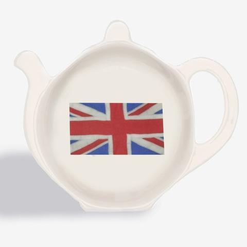 Halcyon Days Union Flag Tea Bag Tidy-Bone China-Sterling-and-Burke
