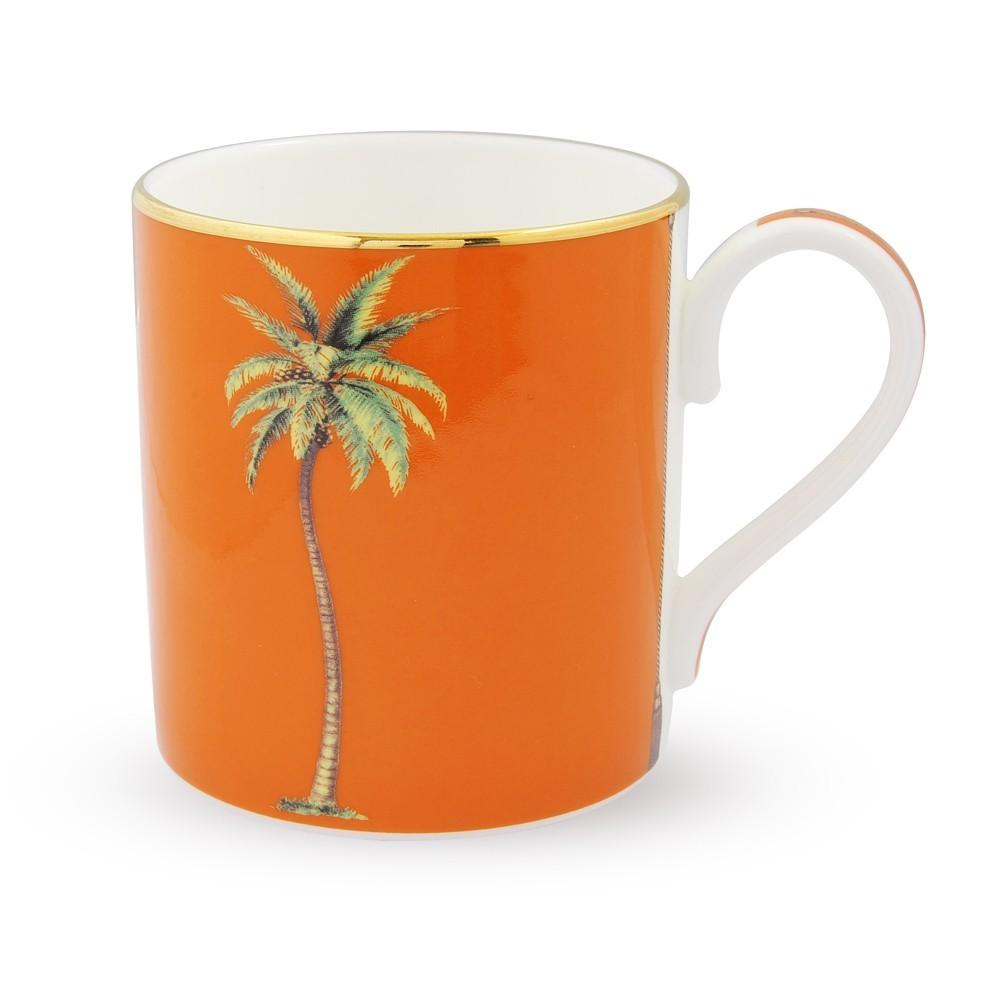Halcyon Days Palm Mug in Orange-Mug-Sterling-and-Burke