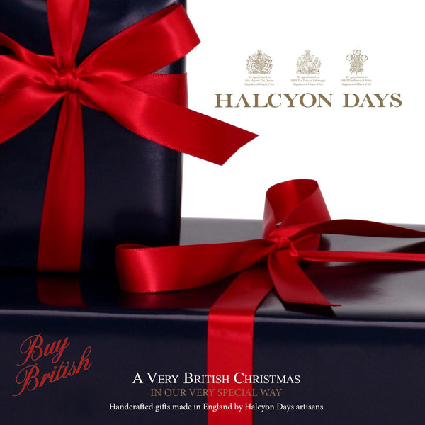 Halcyon Days Christmas Music Box | Christmas Robin Musical Enamel Box