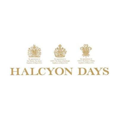 "Halcyon Days Parterre | Midnight Blue and Silver | 8"" Plate"