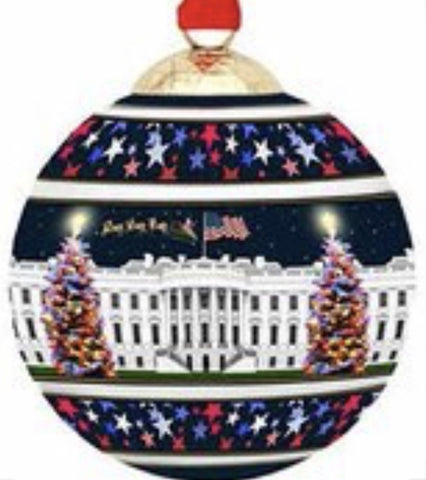 Halcyon Days White House, Washington, DC at Christmas Bauble