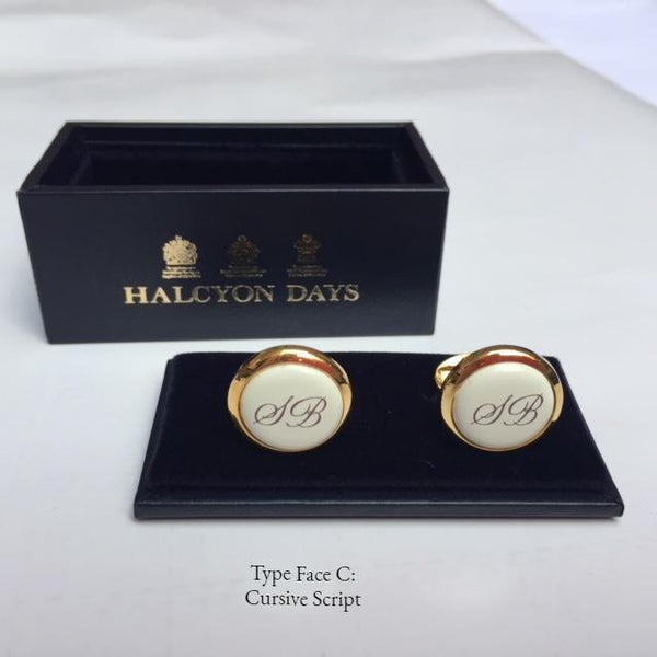 Halcyon Days Custom | Monogrammed Square Enamel Box