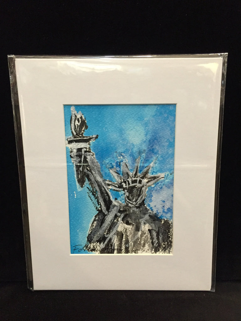 "Art | Liberty 4 by Fabiano Amin | 7"" x 5""-Acrylic Painting-Sterling-and-Burke"