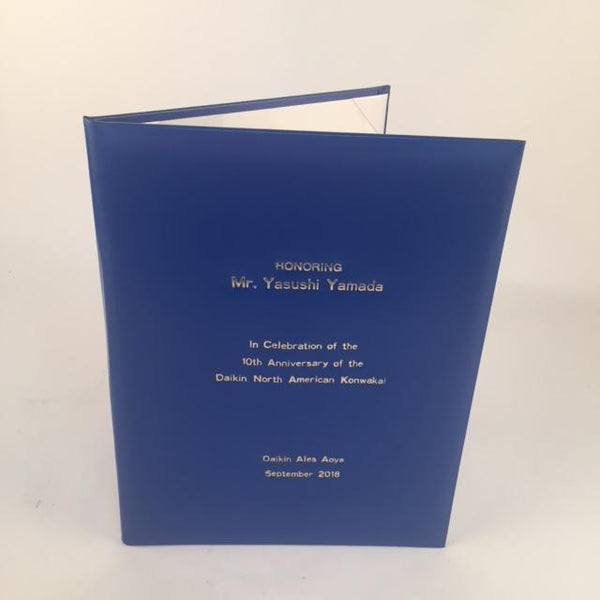 Certificate Holder with Personalization | Sample | Royal Blue | Washington, DC | Sterling and Burke-Portfolio-Sterling-and-Burke
