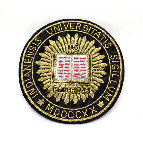 Blazer Badge | Indiana University Blazer Badge | Benson and Clegg | Made in England-Blazer Badge-Sterling-and-Burke